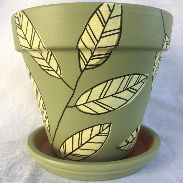 Leaf Design on Sage
